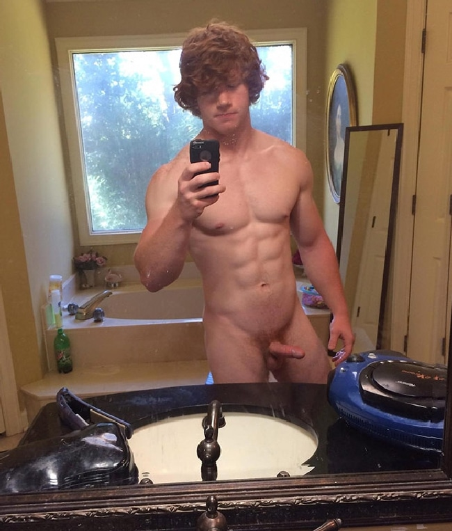 curly haired twink blows thick cock