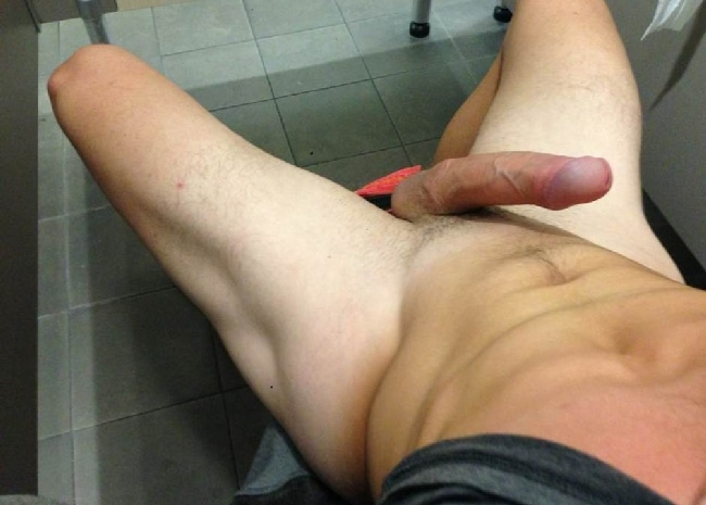 Fit Guy Taking Pictures Of His Hard Dick - Nude Twink Gays