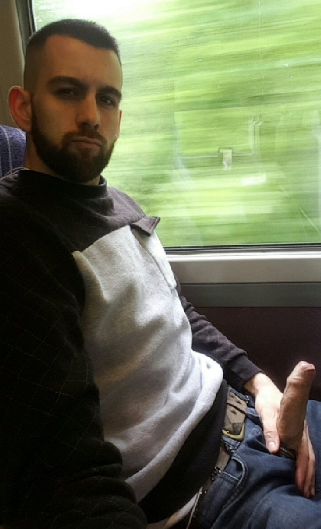 Man On A Train Have His Cock Out - Nude Twink Gays
