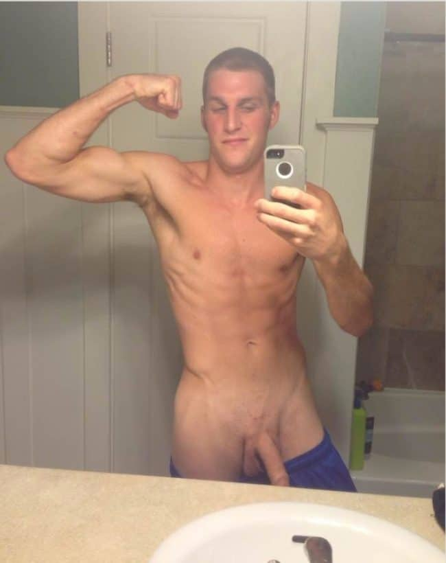 Nude Guy Flexing